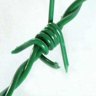 PVC Coated Boundary Protection Double Twisted Barb Barbed Wire